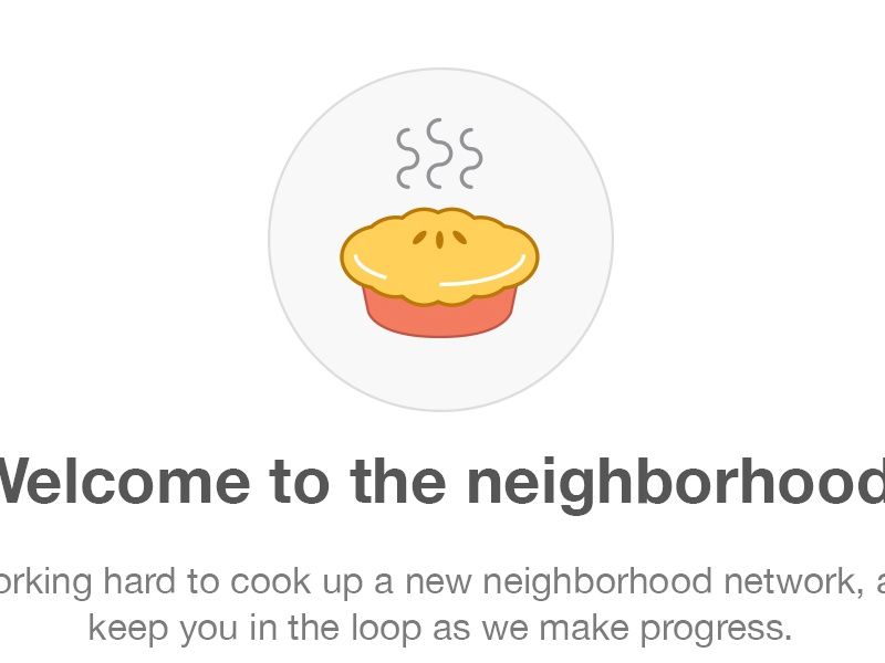 Coming Soon Email email design pie icon food neighborhood welcome email cute flat iconography dessert