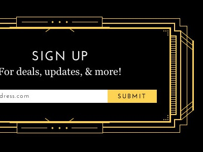 Sign Up Art Deco