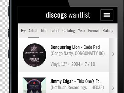 Discogs Wantlist App app discogs music wantlist entries sort