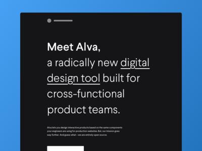 Meet Alva –a radically new design tool design system react component tool system design