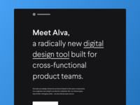 Meet Alva – a radically new design tool