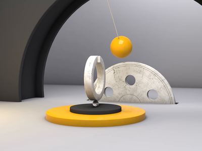 Infinite Craddle - 3D Animation 🕰 motion design 3d animation brand render modeling model motion graphics motion loop animation