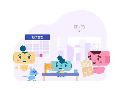 Botbot - Breakfast 🥞 sqreen botbot design motion design gif loop motion graphics animation illustration