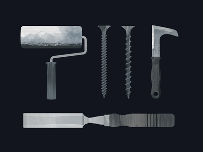 Building Supplies Store Tools Illustrations