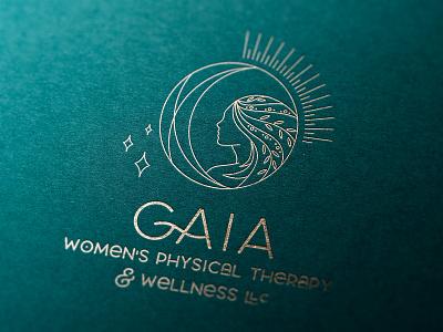 GAIA Logo Design branding sam stone woman women mother earth hand drawn illustration logo design logo physical therapy gaia sam stone design