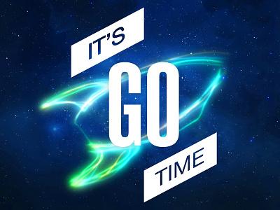It's Go Time, Concept 3 its go time blackbaud go rocket light streaks space