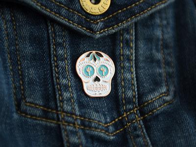 Sam Stone Sugar Skull Pin