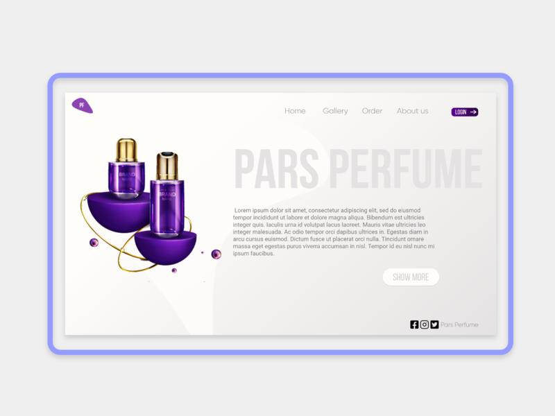 Pars Perfume Landing Page Design minimal dashboard branding web page ux landing illustration design ui