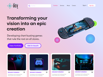 Featured Games  Landing Page graphic design ui shopify store storeui webdesign homepage landing page ecommerce woocomerce