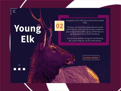 Young Elk website web elk ui production minimal page landing fresh digital agency creative