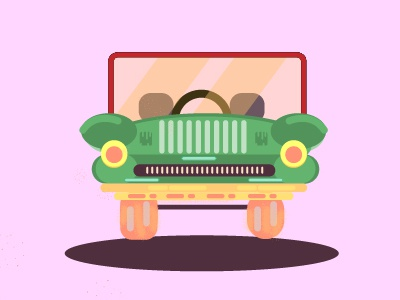 New Car Experience kart mario luigi game studio fireart design character car illustration 2d