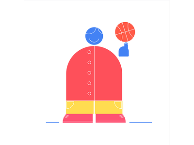 B-ball design smile illustrator illustration character design character sports athletics player b-ball dribbble basketball