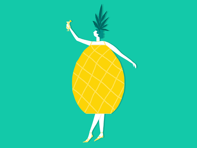 Piña Colada Day drink character design yellow illustration character illustration character piña colada cheers pineapple pina colada