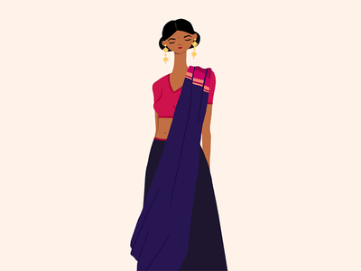 Sari, Saree, or Shari fashion design characterdesign characterillustration character photoshop woman illustration shari saree sari