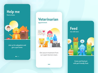 Pet Care Onboarding Screens