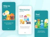Pet Care Onboarding Screens