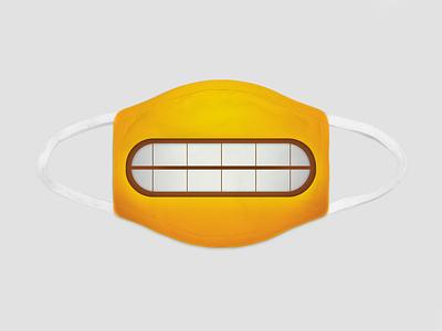 😬😷 photoshop illustrator adobe photoshop adobe illustrator grimace covid covid-19 corona virus emoji face mask playoff challenge design