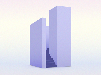 Only Way Is Up ☝️ architectural adobe illustrator adobe illustraor 3d stairs gradient pastel vector