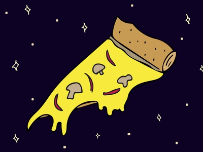 cosmic pizza stars cosmic outer space illustration the truth is out there space pizza