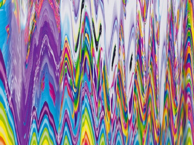 Lisa Frank-y Scan scanner art lisa frank abstract magical unicorn rainbow scan