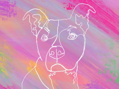 single line doggo