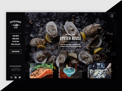 Oyster House Website Concept