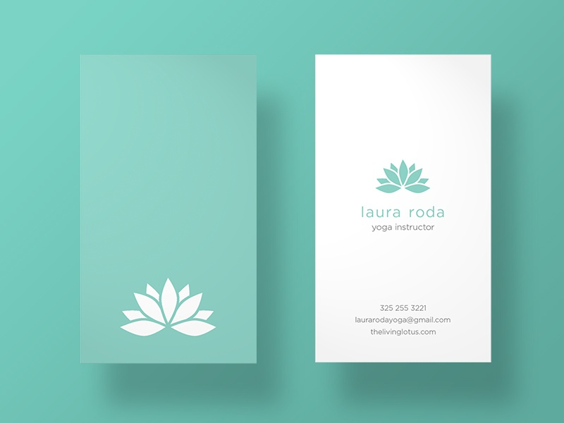 Yoga Instructor Business Cards by J. Roda - Dribbble