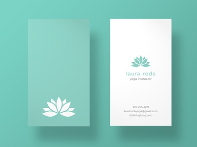 Yoga Instructor Business Cards by Vinyl Media - Dribbble