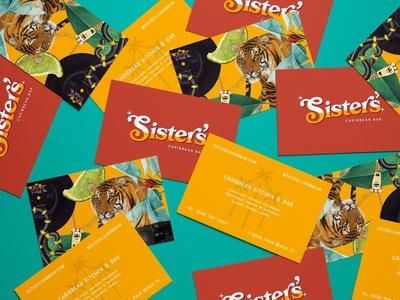 Sister's Caribbean Bar — Business Cards