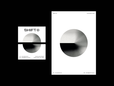 Shift Stationary minimal grain monochrome architechture business card stationary branding