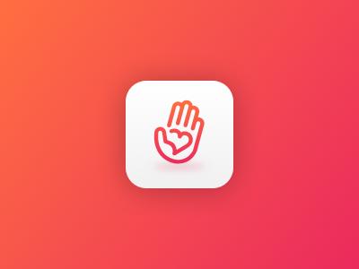 Heeey ✋ brand logotype logo android ios app icon hand