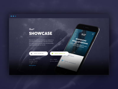 Showcase App one page single page download app landing