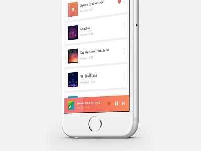 Player 🎶  simple gradient music player ios app ui