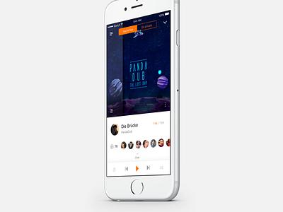 Stream Player 🎵 ios player interface ux ui music app