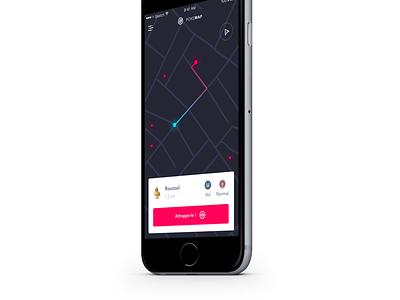 Pokemap ⭕️ app ios ux ui interface map go pokemon