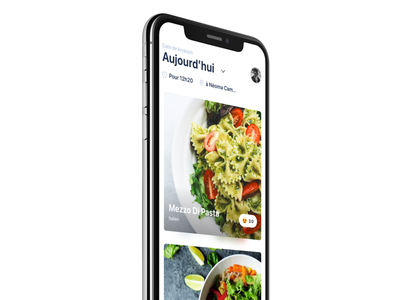 App Lunch School 🍔 cards iphone x app restaurants delivery interface foodtech food