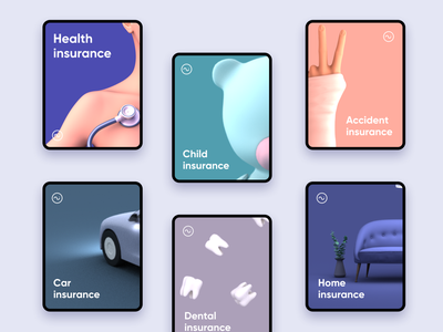 Insurance Categories backgrounds screens spalsh screen paintings posters selction select options cards design cards ui health insurance car insurance health insurance company cards categories insurance