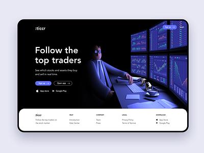 Ticcr – The finance guy chart character design character cinema4d 3ds maya 3d splash homepage landingpage landing finance app stocks financial trading bitcoin crypto finance