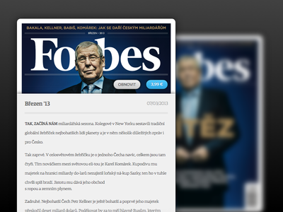 Forbes Issue Detail reader magazine app ipad iphone ios