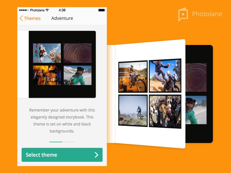 Photolane - Template product photobook app iphone ios
