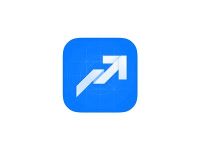 Analytics Icon blue app analytics ipad iphone ios9 ios8 icon ios