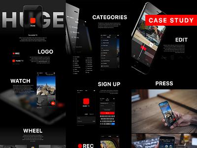 HUGE.TV - Case study app icon huge case study behance black iphone ios9 ios