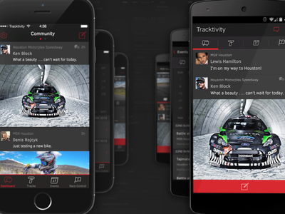 Tracktivity Community android ios9 racing app mobile apple iphone ios