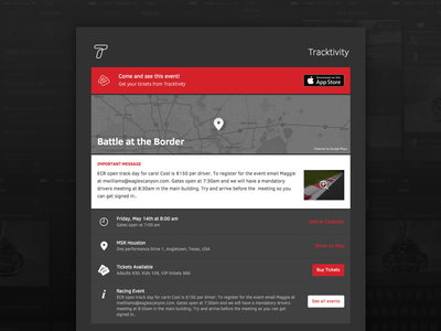 Track Detail Page e-commerce webpage detail track website app ios tracktivity