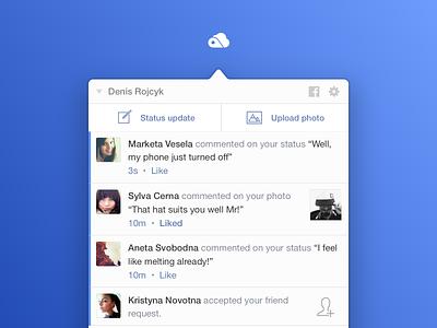 Moment ~ Notifications Center yosemite notifications facebook apple mac ui app