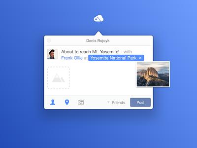 Moment ~ Status Update yosemite status facebook apple mac ui app