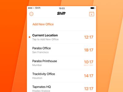 Shift — Main View apple ios iphone logo mobile icon