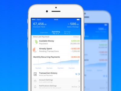 Account Detail finance fintech detail ux ui mobile app iphone ios