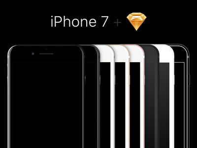 iPhone 7 Sketch Template outline flat silver rose gold gold black jet black iphone 7 template sketch vector iphone