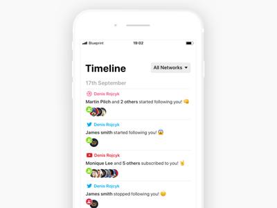 Followio - Timeline rojcyk detail clay app notifications timeline ios iphone